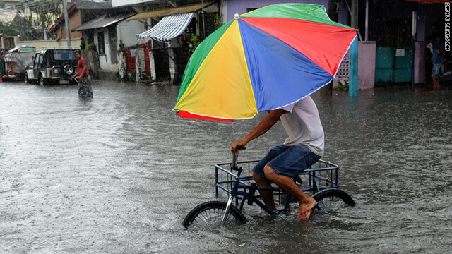 monsoon rain cause flood in the philippines